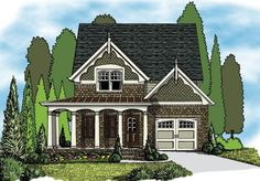 Narrow Lot Plan: 2,251 Square Feet, 4-5 Bedrooms, 3.5 Bathrooms - 009-00134