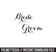 bride groom wedding svg dxf jpeg png file stencil monogram frame silhouette cameo cricut clip art commercial use