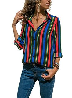 37bab913924 Button closure Blouse for Women Button down Blouse is made of soft  lightsome fabric