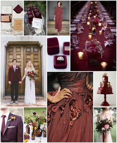 Marsala Wedding Inspiration | Bridal Musings Wedding Blog - Marsala is the anticipated wedding color of the upcoming year!