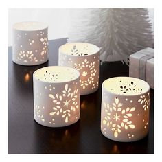 These tea light holders would be so perfect for our mantle in winter