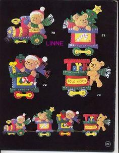 muñecos navideños en fieltro con moldes