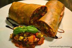 Vegetarisch und Vegan abnehmen: Warmer Gemüsestrudel mit Räuchertofu (vegan)