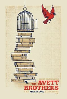 Avett Brothers. My perfect tattoo. Down to the red bird, good luck.