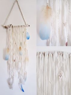 Project Nursery - Dream Catcher Wall Hanging. Find more wall hangings at http://www.earthmamavenice.com