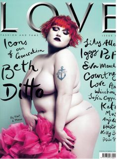 LOVE, Beth Ditto of The Gossip. #magcovers http://www.pinterest.com/TheHitman14/musicover-shots/