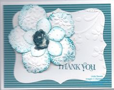 Retiring Stampin' Up! Punch Blossom Petal Builder June 2, 2013   only $16.95 order 24/7 www.stampingwithlinda.com  Also going out of the catalog Flower Trim used in the center of flower.