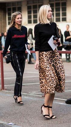 jupe fluide léopard