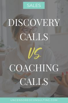 When you're really good at what you do and when it comes easily to you – it's hard to listen to someone spill their guts about a problem that they're having that you know you can fix and not FIX it! Right?!    In this post, I share what the differences are between Discovery (Sales) calls and Coaching calls.    Should you be coaching on a Discovery Call?     | Sales Coaching | Sales Techniques | how to get more clients | service based business entrepreneur #womeninsales #salescoach #Sales Sales Coaching, Business Coaching, Business Entrepreneur, Business Marketing, Business Woman Successful, Business Women, Sales Skills, Sales Techniques, Business Motivational Quotes