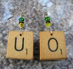 SHE'S GOT DUCK FEVER. . . Oregon Duck Scrabble earrings