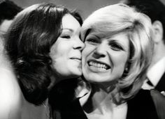Séverine, winner of the Eurovision Song Contest 1971 in Dublin for Monaco with previous year winner Dana