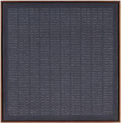 """UNTITLED Agnes Martin 1962 Agnes Martin quote """"It wasn't till I found the grid…"""
