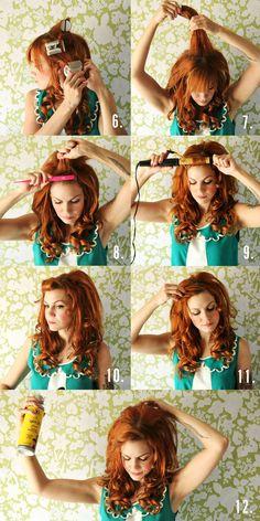 #tutoriel #boucles #coiffure #retro #cheveux #roux