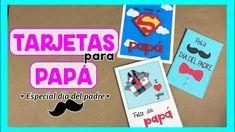 TARJETAS PARA PAPÁ FÁCILES DE HACER - Especial día del padre! Ideas Paso A Paso, Tarjetas Diy, Scrapbook, Diana, Origami, Youtube, Iron Man Party, Party Hairstyles, Scrapbooking