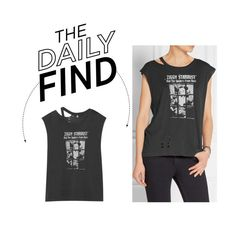 """""""The Daily Find: R13 Bowie T-Shirt"""" by polyvore-editorial ❤ liked on Polyvore featuring R13, women's clothing, women's fashion, women, female, woman, misses, juniors and DailyFind"""