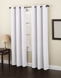 Amazon.com - No. 918 Montego 48 by 84-Inch Curtain Panel, White - Window Treatment Curtains