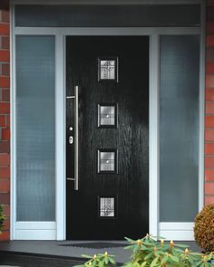 Are you planning to renovate the look of the modern front door design? If you are confused about finding a reference model, then you are in this article we provide a lot of inspiration. Best Front Doors, Black Front Doors, Modern Entry Door, Entry Doors, Front Entry, Black Exterior Doors, Contemporary Front Doors, Modern Contemporary, Home Modern