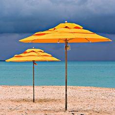 Beach sun umbrellas