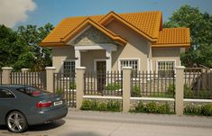 This 2 bedroom small house design is a compact house plan which can be build in a small lot. A meter x meter lot size can accommodate this small house design as a semi-detached construction. It has a floor area of approximately sq. 2 Bedroom House Design, Three Bedroom House Plan, Bungalow House Design, My House Plans, Country House Plans, Small House Plans, Simple House Design, House Design Photos, Modern House Design