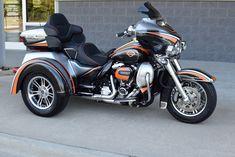 2017 Harley Davidson Tri-Glide Trike Custom Flawless.  Retail Price: $50,000 (£38,580), Sale Price: $41,808 (£32,263.23) #harleydavidsongirlspictures #harleydavidsonglide