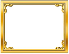 gold frame border free clipart - Google Search