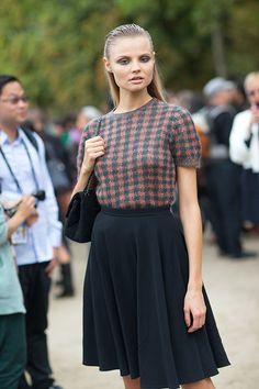 Magdalena Frackowiack Street Style: Paris Fashion Week Spring 2014