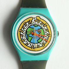 ode to keith haring...  i have this watch!