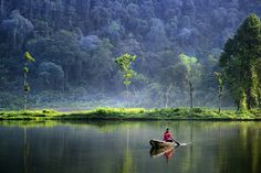 Situ Gunung Lake, Indonesia.