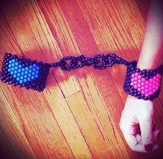 Kandi cuffs - Love this! lol