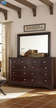 Clean lines and tastefully understated styling make the Whitmore dresser a fantastic choice.
