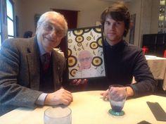 """Me and Gualtiero Marchesi (Award """"Le Grandi Guglie"""", Centro Studi Grande Milano)."""