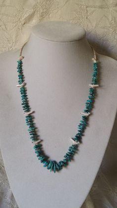 Vintage Navajo Heishi Mother of Pearl MOP Sterling Necklace Strand