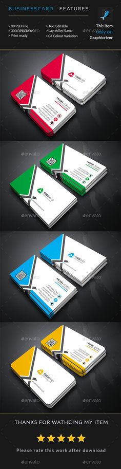 Corporate Business Card Template PSD #design Download: http://graphicriver.net/item/corporate-business-card/14459257?ref=ksioks