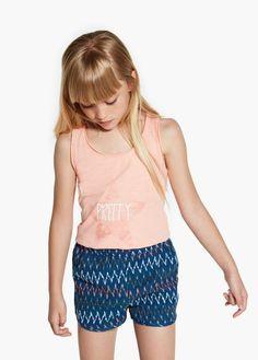 Glitter t-shirt   MANGO KIDS