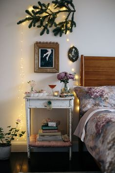 Nutcracker ballet inspired bedroom styling - from lobster and swan - read the whole post - love the pops of forest green