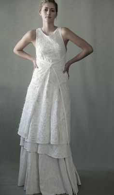 Billie $3990.00    Hand-stitched, 100% organic cotton jersey Maggie Dress with all-over embroidery. Each piece custom made to your specifications.  Wash Gently + Hang to Dry. Made in the USA.