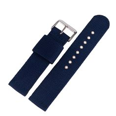 20/22/24mm Nylon Military Watch Strap Wrist Band Blue Outdoor Replacement Soft High Quality Pin Buckle Sport Bracelet Watchband