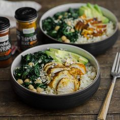 Frontier Co-op: Turmeric Chicken, Kale and Rice Bowl