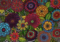 Art Journal - by doodler on flickr - Floral Mania