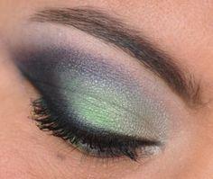 Seattle Seahawks Inspired Eyeshadow #superbowl