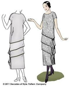 1920s Tier-rific Ensemble | from Decades of Style Pattern Company - Pattern #2004