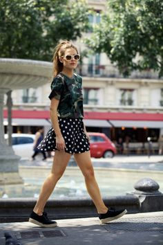 How to Chic: BE FRASSY - POLKA DOT SKATER SKIRT