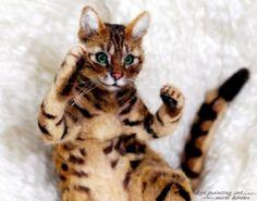 *NEEDLE FELT ART . gorgeous cat - looks so real!