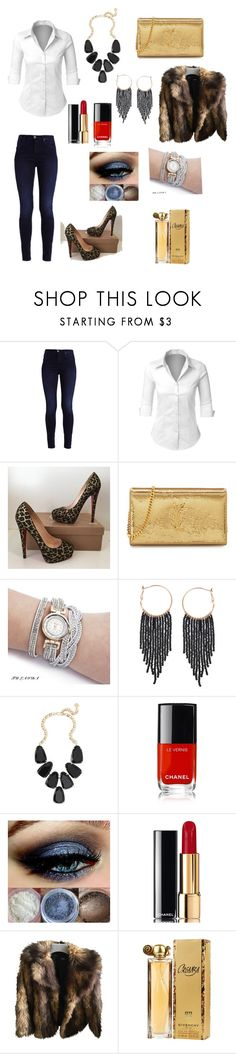 """""""Camisa & Jeans Estilo Sexy"""" by anapereira-v on Polyvore featuring Belleza, LE3NO, Christian Louboutin, Yves Saint Laurent, Humble Chic, Kendra Scott, Chanel, ASOS y Givenchy"""