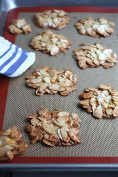 Ottolenghi's Almond Orange Florentines - Blue-Eyed Bakers - Blue Eyed Bakers