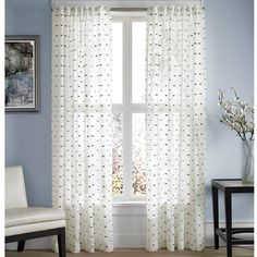 from bed bath u0026 beyond product image for captiva sheer rod pocket window curtain panel