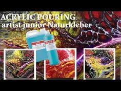 artist junior Naturkleber von Gerstaecker (Wie man damit arbeitet) - YouTube Art Resin, Acrylic Pouring, Painting Techniques, Tricks, Diy And Crafts, Youtube, Blog, Abstract, Creative