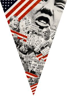 Collage of Donald Trump, by Lincoln Agnew