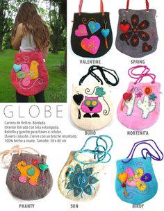 MAKAS II Carteras y accesorios en fieltro. II Felt handbags and accessories.