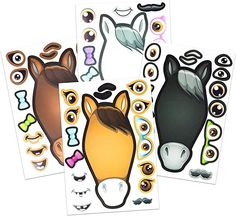 24 Make A Horse Stickers Sheets For Kids - Horse Petting Zoo Barnyard Theme Birthday Party Favors & Decorations - Includes Brown Black White/Grey Horses - Fun Craft Activity For Children 3 Horse Theme Birthday Party, Rodeo Birthday Parties, Cowgirl Birthday, Birthday Party Favors, Cowgirl Party, Birthday Stuff, 10th Birthday, Birthday Activities, Craft Activities